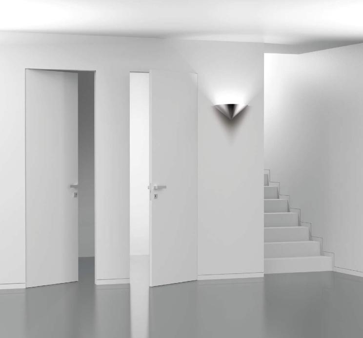 Collezione porta battente filo muro invisibile scorza porte - Controtelaio porta battente ...